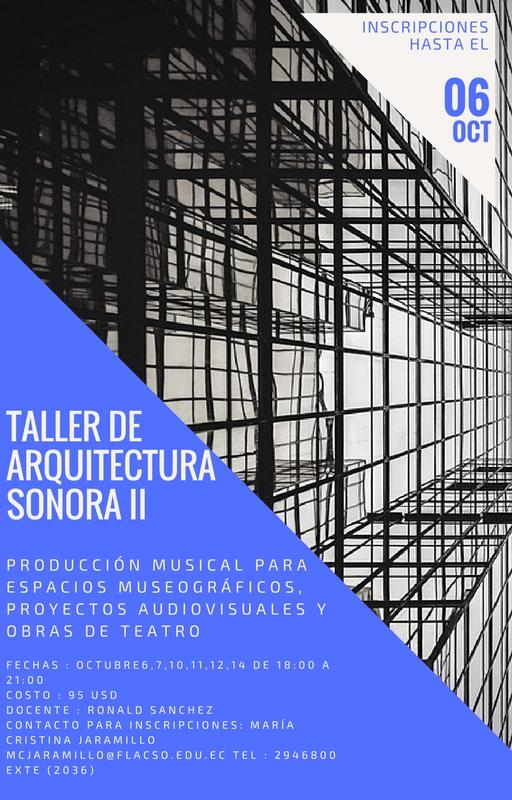 Taller de arquitectura sonora II